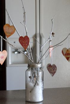 Valentine's Day table decor. Perfectly simple.
