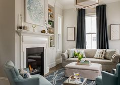 Transitional living room by Lovejoy Designs | Kitchen of the Week: Chinoiserie Chic in New England