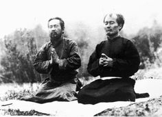Morihei Ueshiba in 1924 (Mongolia) with onisaburo deguchi.