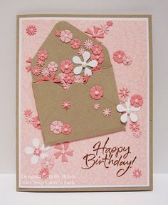 Glitter, Stamps, and Ink (Oh My...): Envelope of Flowers
