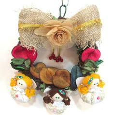 Ateliê Le Mimo: NATAL  Guirlanda com anjinhas bonequinhas