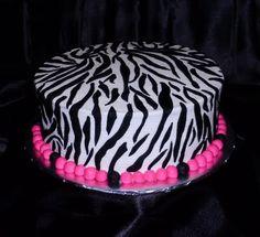 Making a zebra cake