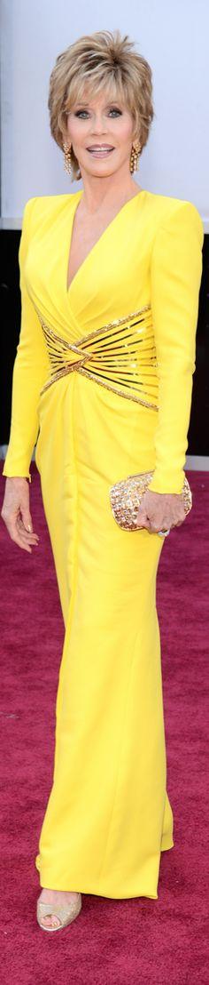 Jane Fonda 2013 Oscar Red Carpet