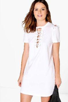 fd241c632777 White frill shirt dress - shirt dresses - dresses - women | River ...