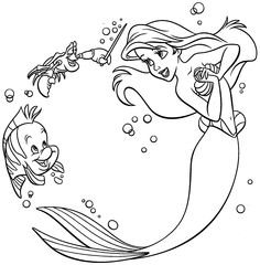 Princess Ariel And Friends Mermaid Coloring Pages Coloring pages