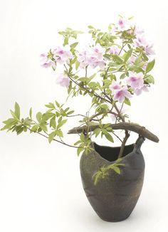 信楽焼凛花器花入花瓶陶器