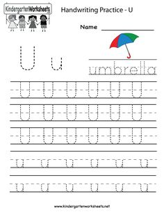 math worksheet : searching for a worksheet to help your child learn the letters of  : Letter U Worksheets For Kindergarten