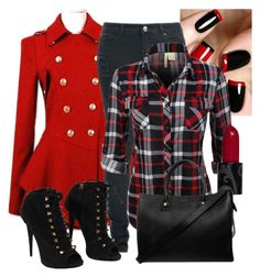 """Red and Black"" by jordan-hansen on Polyvore featuring Giuseppe Zanotti and Paul & Joe"