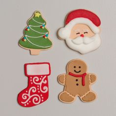 Merry & Bright Assortment – Wholesale Sugar Flowers Christmas Tree Star, Santa Face, Sugar Flowers, Gingerbread Man, Merry And Bright, Icing Decorations, Box, Products, Snare Drum