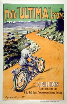 vintage french bicycle print
