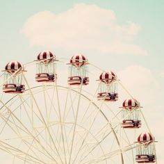 Ferris Wheel Photography Print Wall Art by JCannonPhotography