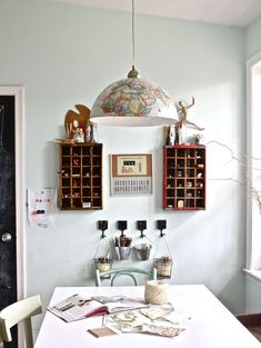 How to Make a Globe Pendant Light @Emily (Moore) Alman , this looks like something you would have in your house