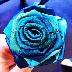 Satin rose DIY