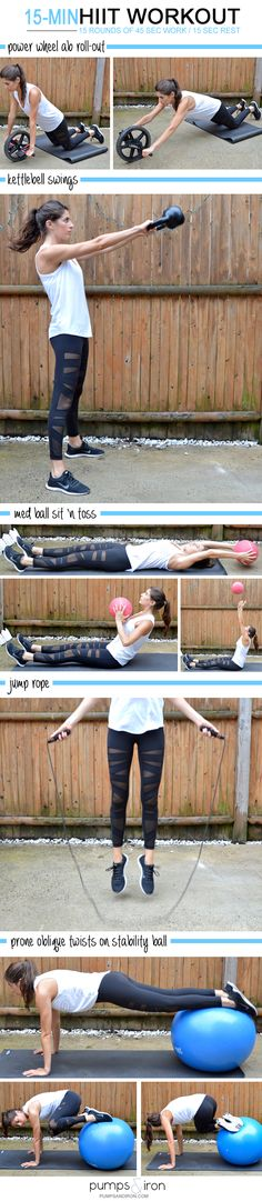 HIIT Workout Check out the website to see 15 Min Hiit Workout, Tabata Workouts, Fit Board Workouts, At Home Workouts, Home Workout Equipment, Fitness Equipment, Cardio Training, Salud Natural, High Intensity Interval Training