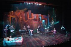 Wild Party, New Repertory Theater Set Design, Janie Howland Lighting Design, Frank Meissner Set Built by Wooden Kiwi Productions