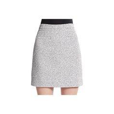 Proenza Schouler Tweed Mini Skirt ($215) ❤ liked on Polyvore