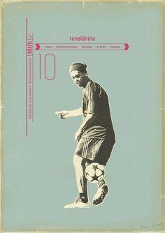 "Ronaldinho by Zoran Lucic for ""Sucker For Soccer""    Giclee Print | 50x70 cm | 1/50ex    50 €"
