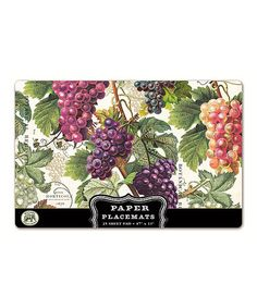Take a look at this Vineyard Paper Place Mat - Set of 25 on zulily today!