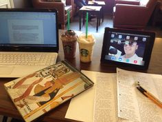 Today's study set up.   -the arcegyptologist-  From tumblr
