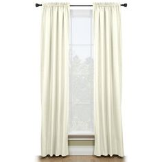 Style Selections 84-in Walker Thermal Rod Pocket Window Curtain Panel