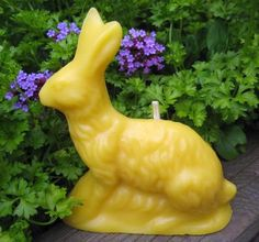 Beeswax Candle from Vintage Mold