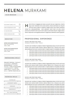 Modern Resume  Professional Resume  Cv Template  Word Resume