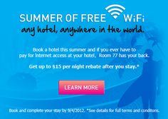 Room77 Free Wi-Fi Banner