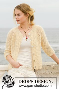 Le Conquet Free Knitting Pattern for a Raglan Jacket, Easy seed stitch jacket to knit for women. Le Conquet Free Knitting Pattern for a Raglan Jacket, Easy seed stitch jacket to knit for women. Knit Cardigan Pattern, Crochet Jacket, Sweater Knitting Patterns, Jacket Pattern, Crochet Cardigan, Knit Or Crochet, Knit Patterns, Free Knitting Patterns For Women, Knitting Tutorials
