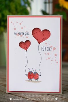 Stoff und Stempel / Schüttelkarte / Love you lots / Stampin Up!