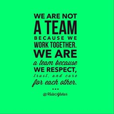 A Team. teamwork quotes