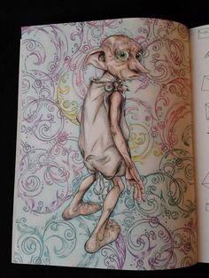 Dobby From The Harry Potter Coloring Book
