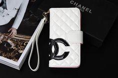 Designer Big CC Chanel iPhone 7 Wallet Case White