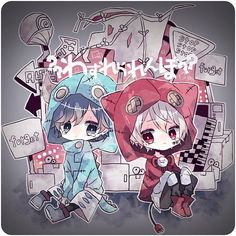 Soraru x Mafumafu Anime Oc, Manga Anime, Anime Chibi, Anime Guys, Kawaii Anime, Chibi Boy, Cute Chibi, Manga Cute, Kaito