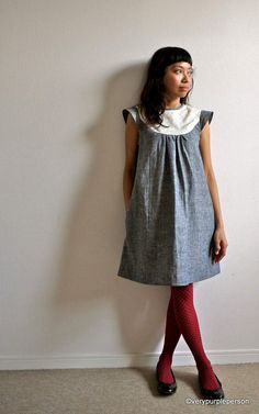 looks like my first day of kindergarten dress - minus the embroidery. love, love!