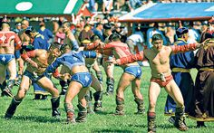 Participate in a Naadam festival in Mongolia.