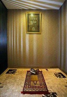 47 Praying Room Interior Design That You Can Try In Your Home # Design Home Design, Room Interior Design, Interior Decorating, Prayer Corner, Islamic Decor, Islamic Art, Mekka, Prayer Room, Room Goals