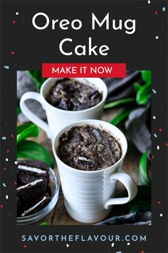 Oreo mug cake is a delicious microwave dessert that you can whip up in minutes. This easy recipe can be made vegan and gluten free as well. Just crush up some Oreo cookies, mix a few ingredients, and you have a sweet treat to enjoy! Gluten Free Oreos, Vegetarian Cookies, Crushed Oreos, Cake Recipes From Scratch, Food Facts, Few Ingredients, Oreo Cookies, Cake Batter, Cookies And Cream