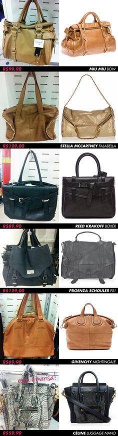 bolsas c inspired celine nano luggage miu miu ps1 boxer bow stella falabella corrente