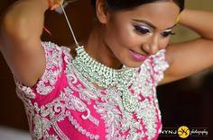 pink Indian wedding lehenga Indian bride