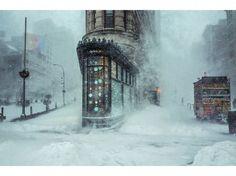 Au pied du Flatiron Building, à New York, au matin du 23 janvier. Michele Palazo…