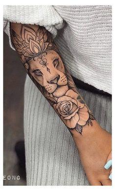 Arm Tattoos For Women Forearm, Half Sleeve Tattoos Forearm, Lion Forearm Tattoos, Cute Tattoos For Women, Forarm Tattoos, Tattoos For Women Half Sleeve, Chest Tattoos For Women, Top Tattoos, Body Art Tattoos