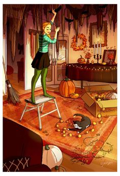 Uploaded by DREAM CATCHER. Find images and videos about Halloween on We Heart It - the app to get lost in what you love. Halloween Art, Vintage Halloween, Costume Halloween, Illustrations, Illustration Art, Belle Photo, Cartoon Art, Cute Art, Art Girl