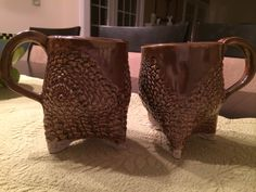 Lacy soup mugs Soup Mugs, Pottery Making, Pottery Ideas, Tableware, Dinnerware, Tablewares, Dishes, Place Settings