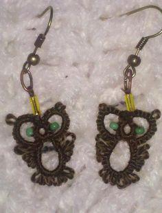owl earrings -pattern -  http://www.intatters.com/showthread.php?2022-Little-owl-earrings&highlight=earrings