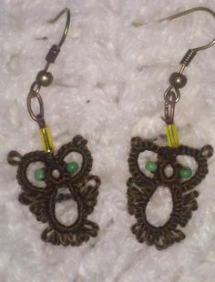 owl earrings -pattern -  http://www.intatters.com/showthread.php?2022-Little-owl-earrings&highlight=earrings