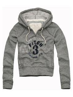 [37,95€] Sudaderas con capucha de algodón gris con estampado de letras 37,95€