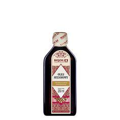Olej sezamowy marki Laboratorium Biooil. Doskonała jakość, atrakcyjna cena. Sprawdzony produkt najwyższej jakości. Jack Daniels Whiskey, Sauce Bottle, Whiskey Bottle, Drinks, Omega, Drinking, Beverages, Drink, Beverage