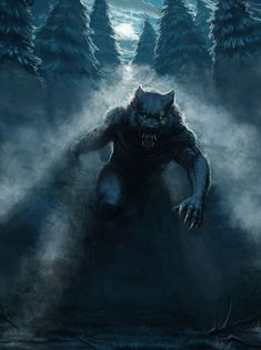 Pin by pain on wolves/werewolves in 2019 Werewolf Hunter, Werewolf Art, Magical Creatures, Fantasy Creatures, Wolf Hybrid, Wolf Artwork, Vampires And Werewolves, Cryptozoology, Mythological Creatures
