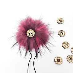 Raspberry Faux Fur Pom Poms – Warehouse 2020 More Code, Pink Streaks, Faux Fur Pom Pom, Pom Poms, Warehouse, Hot Pink, Raspberry, Make It Yourself, How To Make