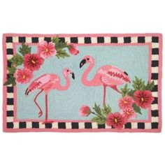 Homefires Accents Flirty Flamingos Indoor Rug, 22-Inch by 34-Inch: Amazon.com: Home & Kitchen